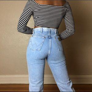 High rise denim wrangler jeans
